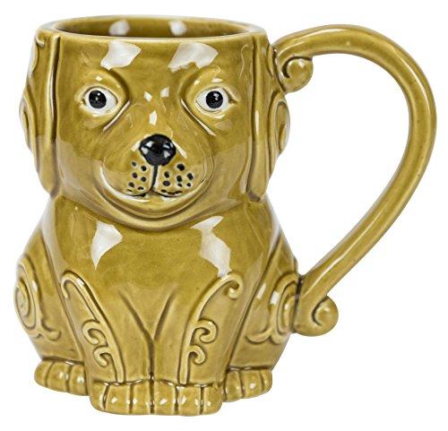 Hand-Painted Stoneware Dog Mug by Boston Warehouse (Hand Painted Stoneware Mugs)