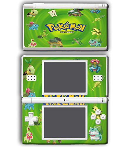 Pokemon Go Pikachu Leaf Green Bulbasaur Turtwig Chikorita Video Game Vinyl Decal Skin Sticker Cover for Nintendo DS Lite System Console