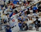 Justin Turner Autographed 16X20 Photo Dodgers Big Swing Bat on Right PSA/DNA
