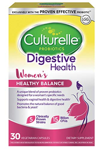 Culturelle Women's Healthy Balance Probiotic for Women | 30 Count | with Probiotic Strains to Support Digestive, Immune and Vaginal Health* | with The Proven Effective Probiotic | Packaging May Vary