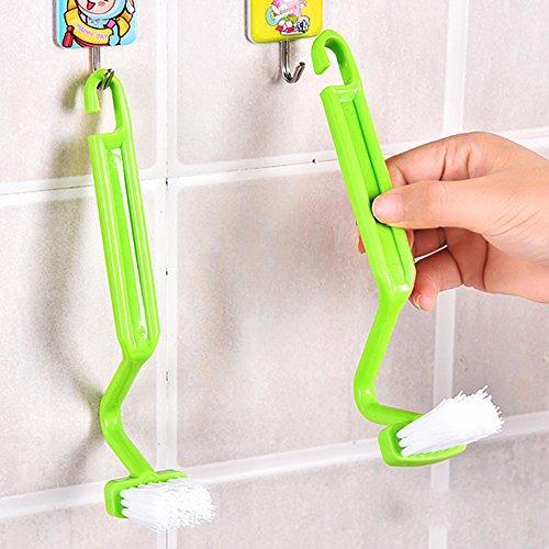 vi porte lavabo con spacco 1/pezzi Yo curvo plastica spazzola hand-held Corner Groove Gap spazzola di pulizia per la pulizia perfetta angolo cucina finestre colori casuali igienici angolo RIM bagno