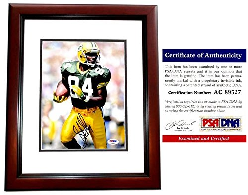 Sterling Sharpe Autographed Green Bay Packers 8x10 inch Photo MAHOGANY Custom (Green Bay Packers Mahogany Frame)