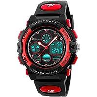 HIwatch Kids Sport Watch for Girls Digital Analog Wrist Watches Red