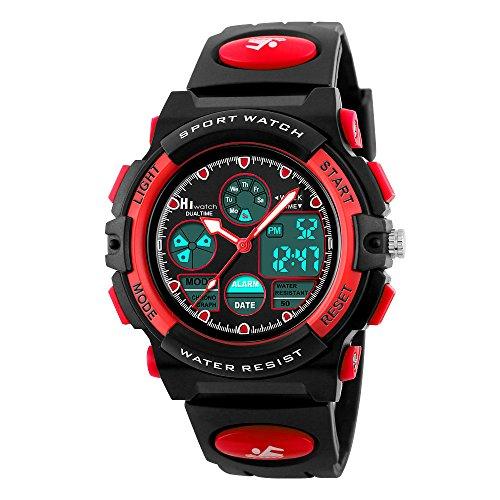 HIwatch Kids Sport Watch for Girls Digital Analog Wrist Watches Red ()