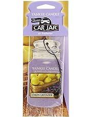 Yankee candle Zapach samochodowy Car Jar Single Lemon Lavender, tektura, fioletowy, 7,6 x 19,7 x 0,7 cm