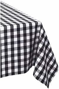 Wonderful DII 60x84u0026quot; Rectangular Cotton Tablecloth, Black U0026 White Check    Perfect For Fall,