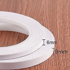 kuuqa 2 rollen selbstklebendes doppelseitiges klebeband zum handwerksklasse b ro diy mit 25. Black Bedroom Furniture Sets. Home Design Ideas