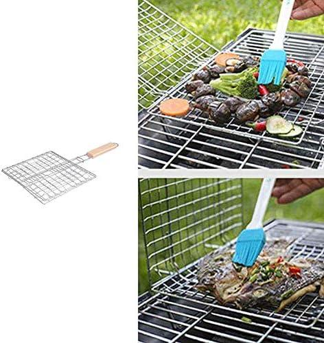 KAIKUN Grille Barbecue Rectangulaire Grilles Barbecue Barbecue Grill Racks Portable Barbecue Grill Non Bâton Barbecue Grill Tapis