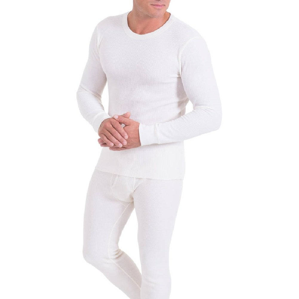 Men's 100% Cotton Thermal Underwear, 2-piece Set