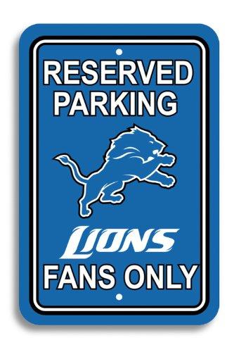 Fremont Die NFL Detroit Lions Plastic Parking Sign