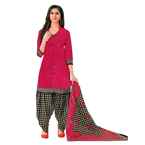 Designer Printed Cotton Patiala Salwar Kameez Readymade Suit Indian Dress Bollywood - Kameez Dress