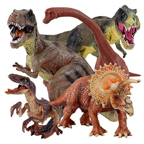 "Winsenpro 5PCS Jumbo Dinosaur Set,13"" Realistic Looking Dinosaur Toy Set for Party Gift,Boys Girls Children"