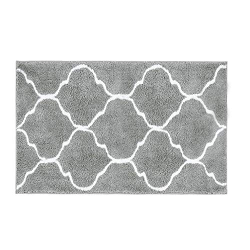 HEBE Microfiber Bathroom Rugs Mats Geometric, Non Slip Absorbent Bath Rugs Floor Mat Machine Washable, 20