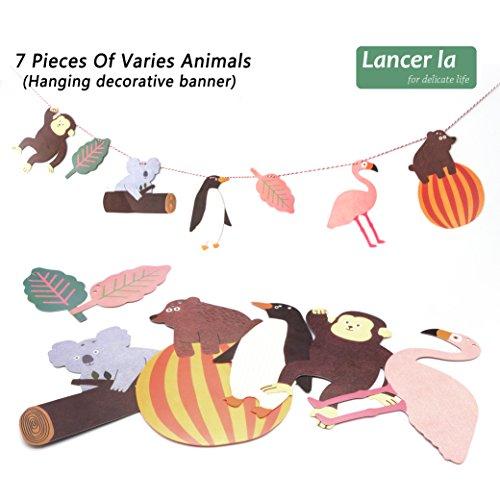 Party Animal Decoration Supply, Happy Birthday Banner, Flamingo, Chimpanzee, Koala Shape, Perfect for Birthday, Children, Kids, By Lancer - Koala Shape