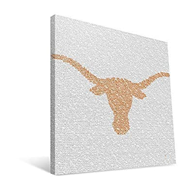 Texas Longhorns 16x16 Typo Canvas Print by Paulson_Designs