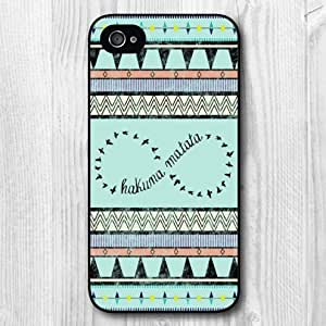 Aztec Hard Cover Case For iPhone 4 4s 4g, Black or White Egde For Your Choice