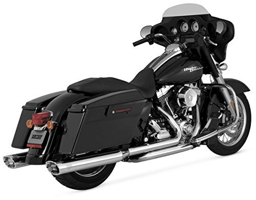 Vance & Hines Monster Oval Slip-On Mufflers - Chrome/Chrome End Cap ()