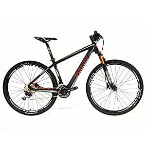 BEIOU Carbon 29er Hardtail Mountain Bike 29-Inch MTB T800 Ultralight Frame 30 Speed SHIMANO M610 DEORE Bicycle 11.8kg Matte 3K CB20 (29ER BLACK, 17-INCH)