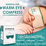 Heated Eye Mask for Dry Eyes Warm Compress for Eyes   Moisturizing Heat for Styes, Pink Eyes, Blepharitis and Puffy Eyes - Adjustable, Microwavable, Washable & Reusable   Bonus Storage Pouch