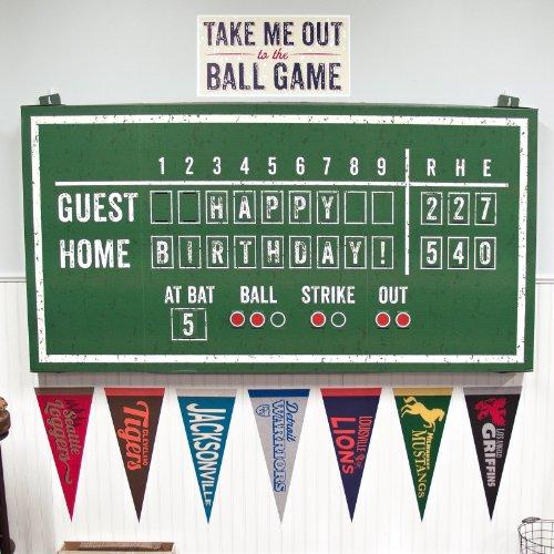 Baseball Time Party Supplies - Hanging Scoreboard