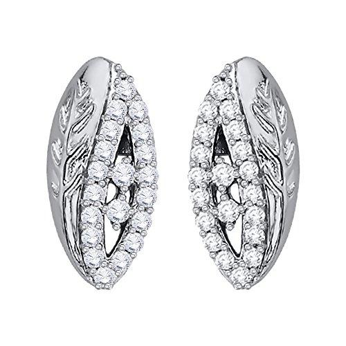 KATARINA Diamond Marquise Design Fashion Earrings in 14K White Gold (1/3cttw, G-H, ()
