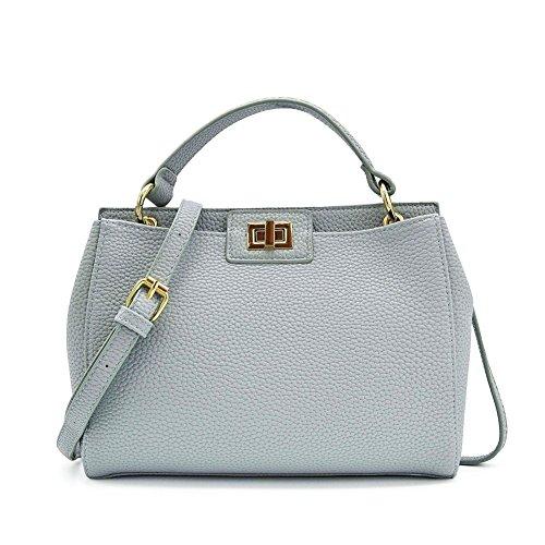 light blue leather handbags - 4