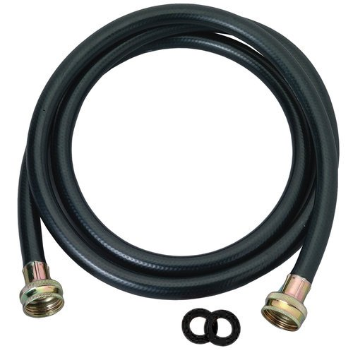 Washing Machine Hose Black Rubber, 5 Foot, Made in the USA