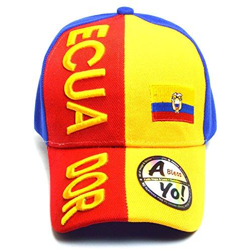 - National Flag Curved Visor Durable Baseball Golf Adjustable Cap AYO6013 (Ecuador)