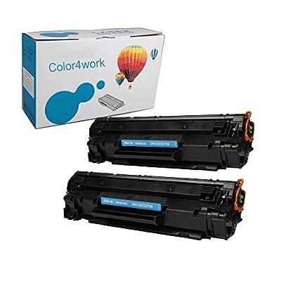 Color4work Canon 128 CRG128A 328 728 126 326 726 HP CE278A 78A Compatible Toner Cartridge 2Pack for FAX-L150 FAX-L170 FAXL418S D520 MF4410 MF4412 MF4420N MF4420 MF4452 MF4550D MF4570dn F4710 MF4712