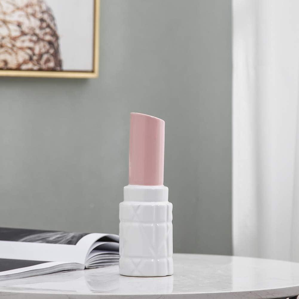HCHLQLZ 25cm Rosa Bianco Fiori Vaso Decorativo di Design Moderno Collection per Ricorrenze Decorazioni per Interni Ristorante Bar Cafe Porcellana