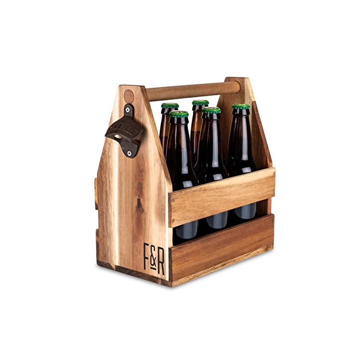 Acacia Wood Beer 6 pack Carrier By Foster And Rye Review