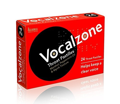 Vocalzone Throat 24 pieces Pack of 3 (Best Lozenges For Sore Throat Uk)