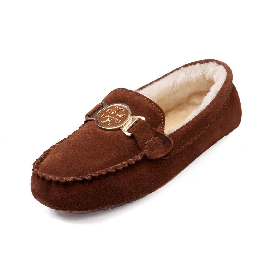 Nyrgyn Warme Herbst Und Winter Sowie Samtige Flache Schuhe Und Bequeme Schuhe Aus Baumwolle