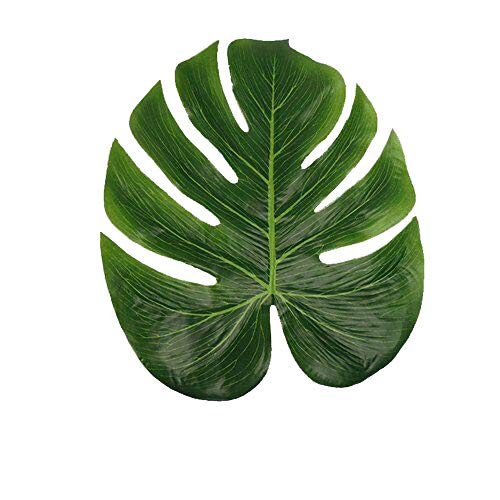 Artificial Tropical Green Plant Leaves Hawaiian Luau Party Jungle Beach Theme Decorations for Birthdays Prom Events JH04 (Light,24 Pack) -