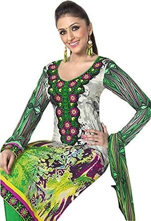 Khoobsurat Green Casual Kurta & Churidar Set For Women