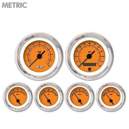 GAR260ZMARABAC Rider Orange 6-Piece Gauge Set with Emblem Aurora Instruments