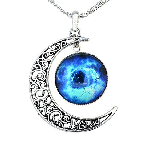 Shally-Womens-Galaxy-Crescent-Cosmic-Moon-Pendant-Necklace-175-Chain-Most-Gift