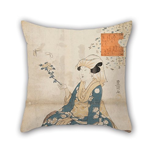 Artsdesigningshop Oil Painting Utagawa Toyokuni I - Untitled Cushion Cases 18 X 18 Inches / 45 by 45 cm Gift Or Decor for Husband Family Valentine Son Lover Teens Boys -