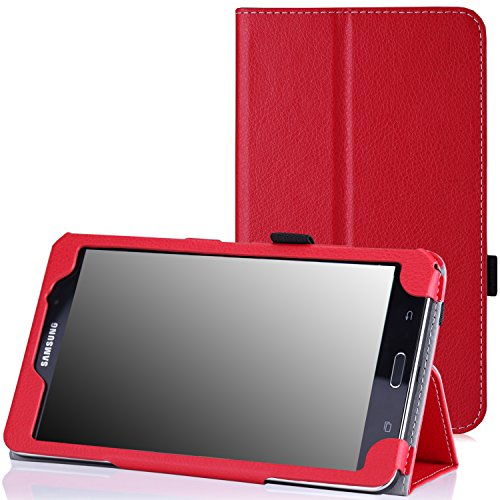 MoKo Samsung Galaxy Tab 4 7.0 Case - Slim Folding Cover Case Stand, RED (Compatible with Tab 5 7.0 2015 Tablet, NOT Fit Samsung Galaxy Tab 3 7.0)