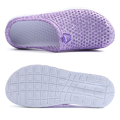 Drying Quick Lewhosy Shoes Slippers purple Clogs Breathable 37 Sandals Lightweight Women's Garden 6xYrw06