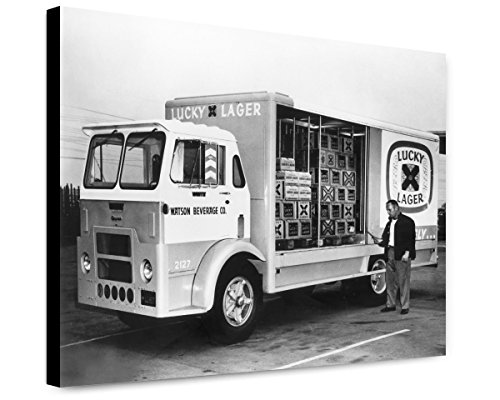 canvas-print-16x20-lucky-lager-beer-truck