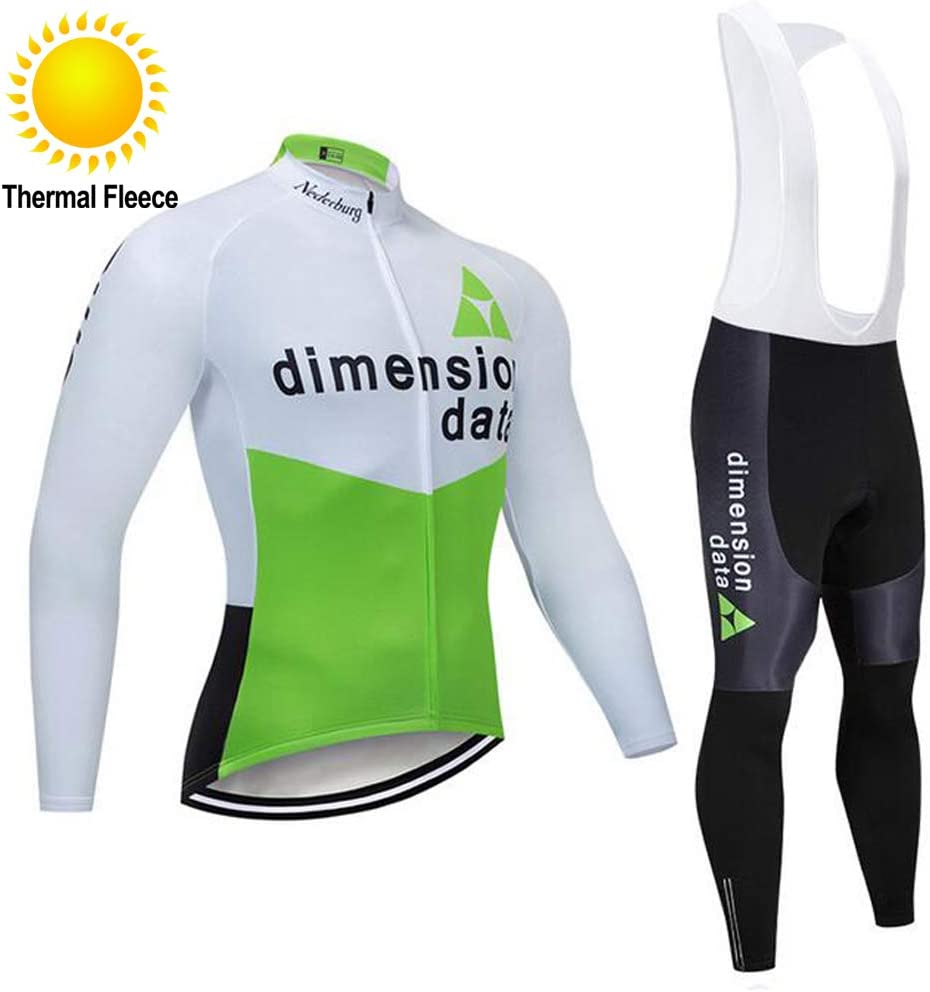 Maglia a Maniche Lunghe e Pantaloni per Il Team PRO Set da Ciclismo per Uomo