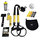 TRX All In One Home Gym Bundle: Includes All-In-One Suspension Trainer  Indoor & Outdoor Anchors  TRX XMount Wall Anchor  4 Exercise Bands & Shaker Bottle