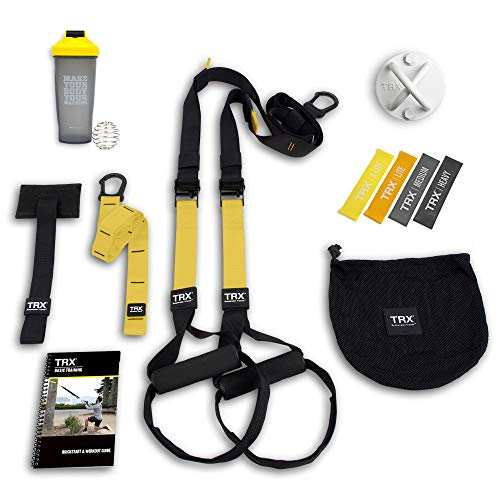 TRX All In One Home Gym Bundle: Includes All-In-One Suspension Trainer