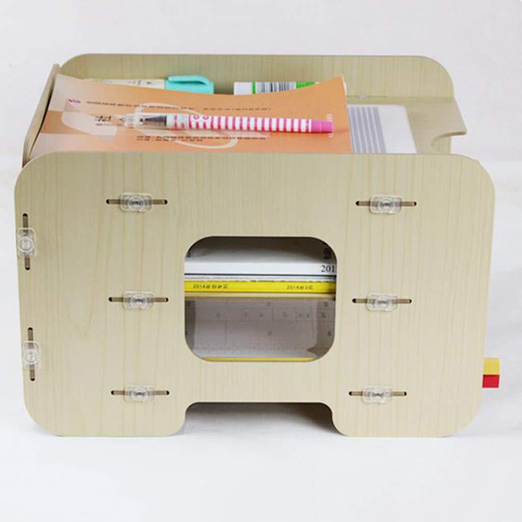 WJF Office Desk-Dateikorb Aus Holz Dateihalter Desktop Speicher Aufbewahrungsbox Aufbewahrungsbox Aufbewahrungsbox Portrait Drei Etagen Zeitschriftenständer Creative Datenschrank (Farbe    2) B07NYYQG4S | Zu einem erschwinglichen Preis  7e5d88