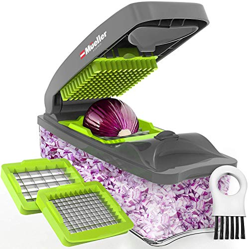 Mueller Onion Chopper Pro Vegetable Chopper - Strongest - NO MORE TEARS 30% Heavier Duty Multi Vegetable-Fruit-Cheese-Onion Chopper-Dicer-Kitchen Cutter ()
