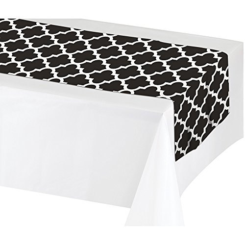 Creative Converting 317332 12Count Plastic Table Runners, 14 x 84