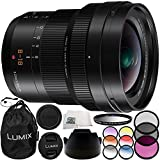 Panasonic Leica DG Vario-Elmarit 8-18mm f/2.8-4 ASPH. Lens 10PC Accessory Bundle – Includes 3PC Filter Kit (UV + CPL + FLD) + 6PC Graduated Filter Kit + MORE - International Version (No Warranty)