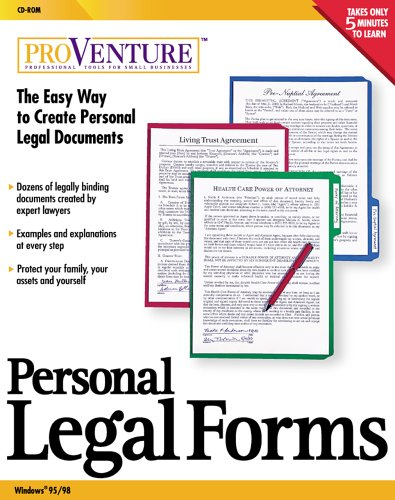 Amazoncom ProVenture Personal Legal Forms - Easy legal documents