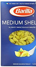 Barilla Pasta, Medium Shells, 16 Ounce Pasta, Medium Shells, 16 Ounce (Pack of 6)